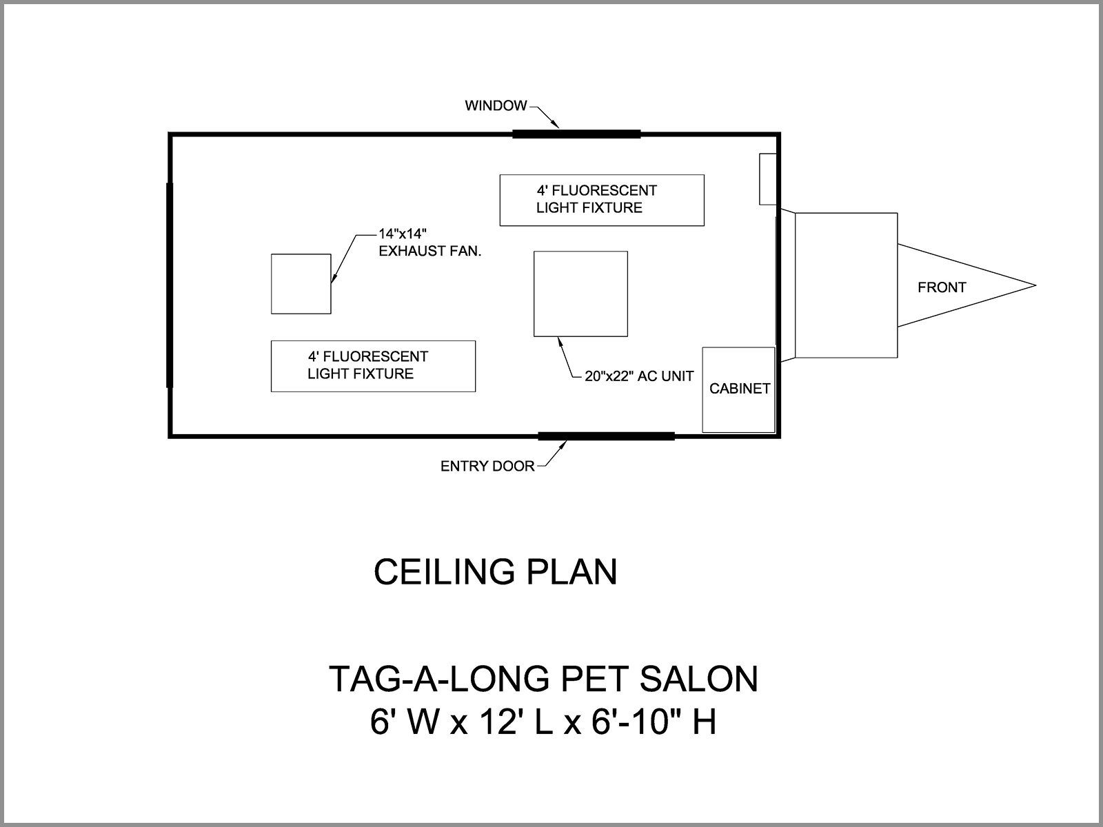 CEILING PLAN-Dog Grooming Trailer
